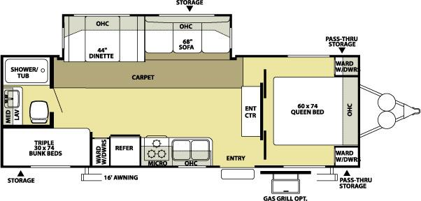 2008 Forest River Wildwood LE 26TBSS Travel Trailer