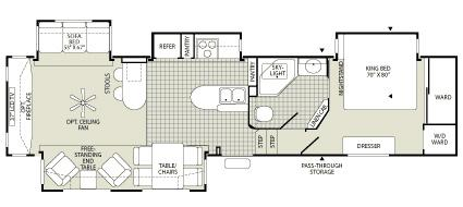 fleetwood 5th wheel floor plans pictures to pin on 2002 prowler floor plan free home design ideas images