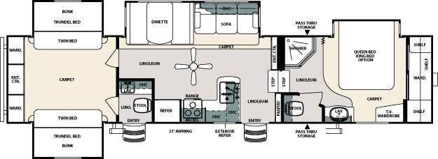 Forest River Sierra QBQ Fifth Wheel Owatonna MN Noble RV - Forest river 5th wheel floor plans
