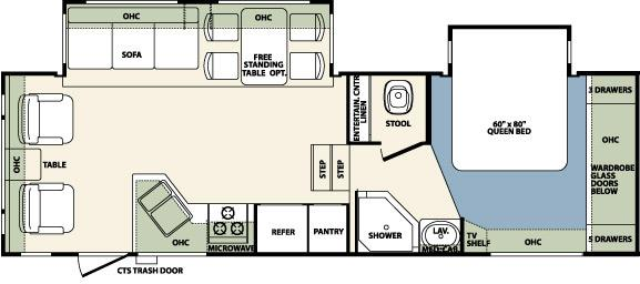 Open Road Fifth Wheel Floor Plans: 2011 Forest River Wildcat 29RLBS Fifth Wheel Owatonna, MN
