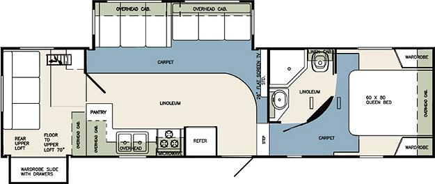 Boats Bikes And Rvs Louisiana Wildcat Fifth Wheel Floor Plan