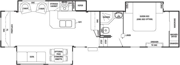 Forest River Cedar Creek RE Fifth Wheel Southaven MS - Forest river 5th wheel floor plans
