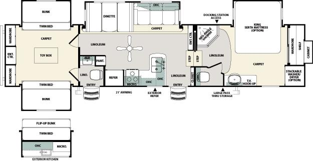 Northside rvs Bunkhouse floor plans