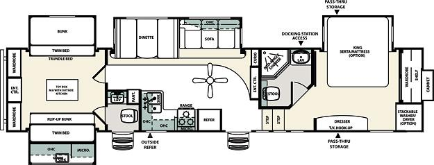 Forest River Sierra SAQ Fifth Wheel Owatonna MN Noble RV - Forest river 5th wheel floor plans