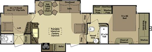 Open Road Fifth Wheel Floor Plans: 2012 Open Range Open Range 413RLL Fifth Wheel Roy, UT Ray