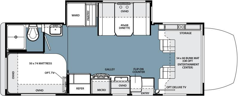Forest River Motorhome Floor Plans: 2015 Forest River Solera 24SLED Class C French Camp, CA
