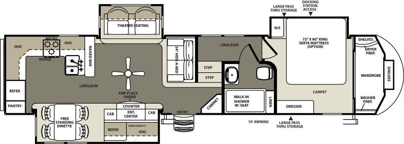 Forest River Sierra RKS Fifth Wheel Jordan MN Noble RV - Forest river 5th wheel floor plans