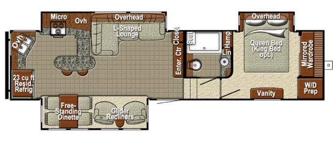 2015 gulf stream canyon trail 32frkt fifth wheel bedford 23 ft travel trailer floor plan trend home design and decor