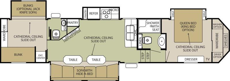 Gallery Of Th Wheel Bunkhouse Floor Plans Images Also Two Bedroom ...