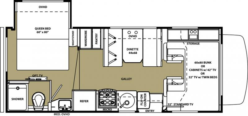 Forest River Motorhome Floor Plans: 2016 Forest River Forester 2251 SLEF Class C Southaven, MS