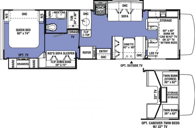 Forest River Motorhome Floor Plans: 2016 Forest River Sunseeker 3170DS Class C Fitchburg, MA