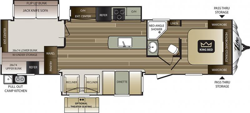 Rvs for sale search results new and used travel for Small bunkhouse floor plans