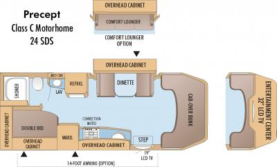 2010 Jayco Precept 24SDS floorplan