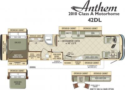 2011 Entegra Anthem 42DL floorplan