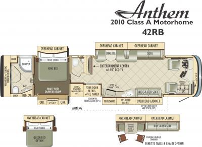 2011 Entegra Anthem 42RB floorplan