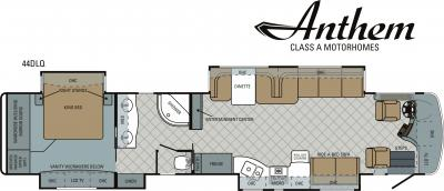 2011 Entegra Anthem 44DLQ floorplan