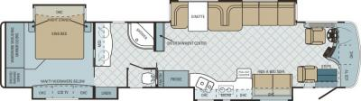 2011 Entegra Cornerstone 45DLQ floorplan