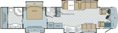 2011 Entegra Cornerstone 45RB floorplan
