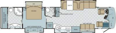 2011 Entegra Cornerstone 45RBQ floorplan