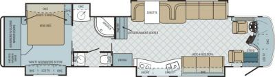 2011 Entegra Cornerstone 45SL floorplan