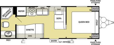 2012 Forest River Salem Cruise Lite 24QB floorplan
