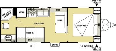 2012 Forest River Salem Cruise Lite 241QB floorplan
