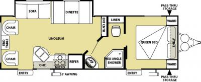 2012 Forest River Salem Cruise Lite 251RL floorplan