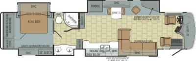2013 Entegra Anthem 42DEQ floorplan
