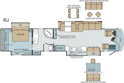 2013 Entegra Cornerstone 45J floorplan