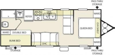 2013 Forest River Salem Cruise Lite 261BHXL floorplan