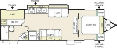2013 Forest River Salem Cruise Lite 281BHXL floorplan