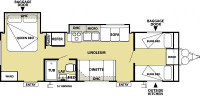 2014 Forest River Salem Cruise Lite 291FB floorplan