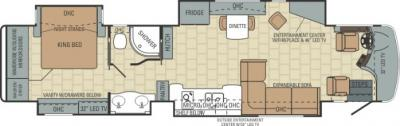 2014 Entegra Anthem 42DEQ floorplan
