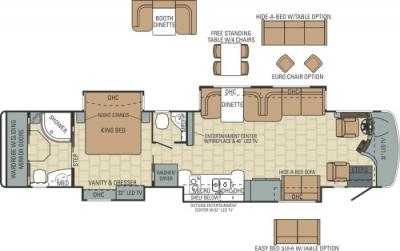 2014 Entegra Anthem 42RBQ floorplan