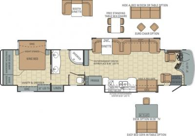 2014 Entegra Anthem 44DLQ floorplan
