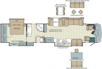 2014 Entegra Cornerstone 45J floorplan