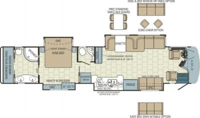 2014 Entegra Cornerstone 45K floorplan