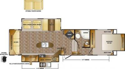 2014 CrossRoads Sunset Trail Reserve 32RL floorplan