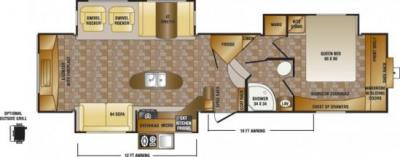 2014 CrossRoads Sunset Trail Reserve 34RE floorplan