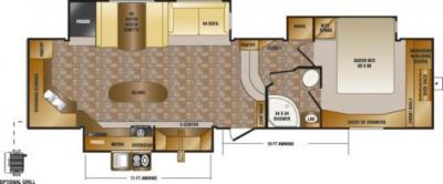 2014 CrossRoads Sunset Trail Reserve 34RK floorplan
