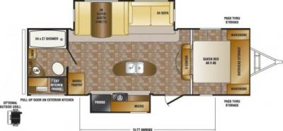 2014 CrossRoads Sunset Trail Reserve 26RB floorplan