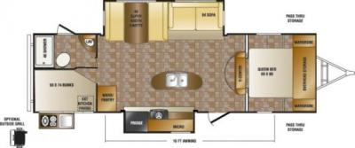 2014 CrossRoads Sunset Trail Reserve 28BH floorplan