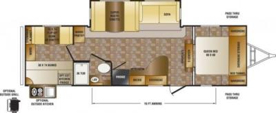 2014 CrossRoads Sunset Trail Reserve 29SS floorplan