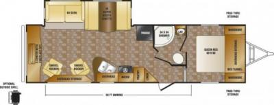 2014 CrossRoads Sunset Trail Reserve 30RE floorplan