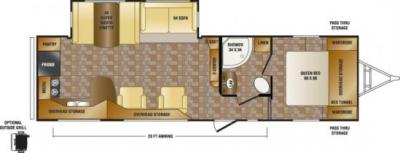 2014 CrossRoads Sunset Trail Reserve 30RK floorplan