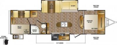 2014 CrossRoads Sunset Trail Reserve 31SS floorplan