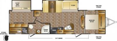 2014 CrossRoads Sunset Trail Reserve 32BH floorplan