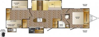 2014 CrossRoads Sunset Trail Reserve 33BD floorplan