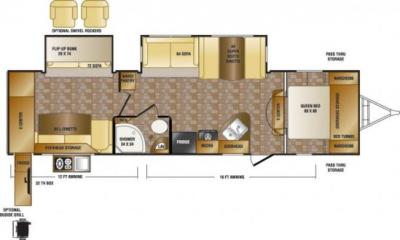 2014 CrossRoads Sunset Trail Reserve 33PB floorplan