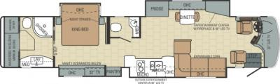 2014 Entegra Anthem 44B floorplan